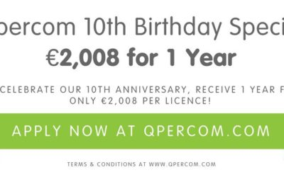 Qpercom 10th Birthday Special: €2,008 for 1 year