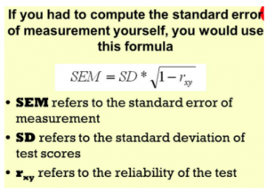 Formula Standard Error Measurement