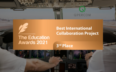 Qpercom's International Collaboration Project commended at The Education Awards 2021